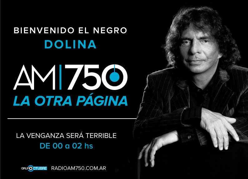 #Dolinaenla750 Desde elviernes en @AM750 https://t.co/fZmR5kgDuS ¡Dale rt así se enteran todos! @lavenganzaradio https://t.co/LkZjg1Sxf3