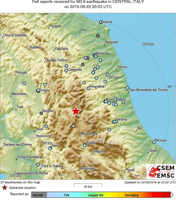 M38 earthquake terremoto strikes 33 km w of ascoli piceno