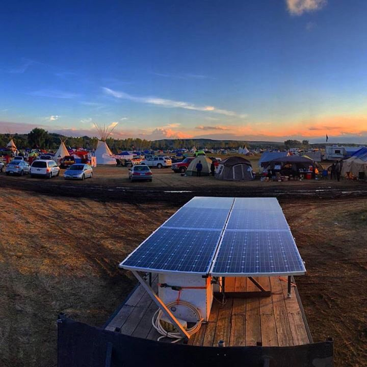 Hey @cnn @abcnews @cbsnews @nbcnews @navajotimes we're in it for the long haul. Solar is now on site. #NoDAPL https://t.co/S5aUULQ0E0