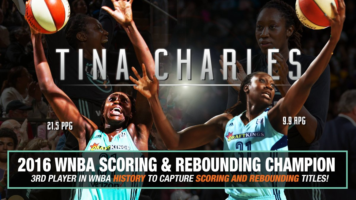HISTORY! @tinacharles31 becomes the 3rd player in @WNBA history to lead league in scoring & rebounding! #Tina4MVP https://t.co/LttEvZpmO4