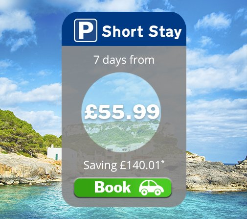 October holiday? Grab 7 days of Short Stay car parking from £55.99 when you pre-book online: