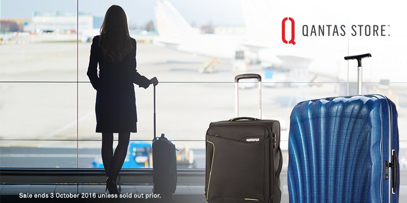 Make travel effortless with up to 40% off selected luggage at the Qantas Store. T&Cs Apply