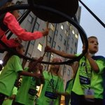 Akron Childrens heroes the Spicocchi quintuplets ring the bell to start the Akron Marathon. #runakron @ohiodotcom https://t.co/RNHgEepygi