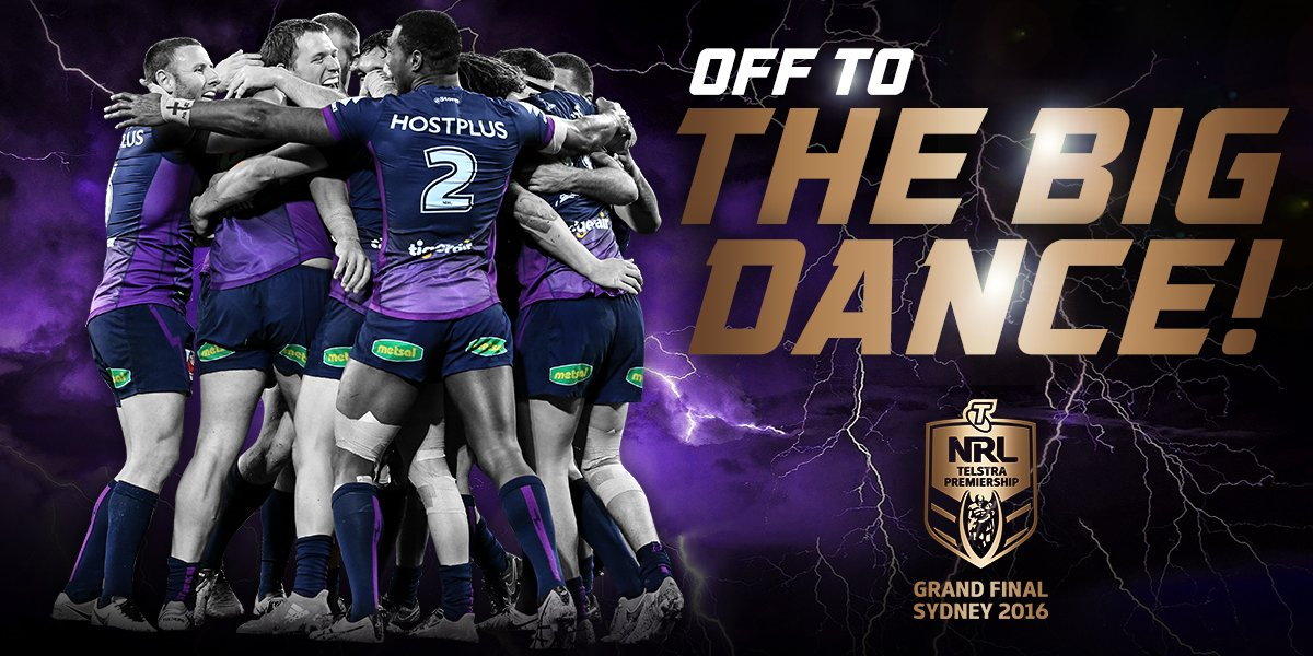 Off to the big dance!!! Ready to do #MelbourneProud in the #NRLGF https://t.co/LnsV87lEGl