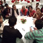 Indian and Nepali journalists together @ #IJAsia16 not discussing politics,but sharing political jokes. https://t.co/dAQeGFbWd0