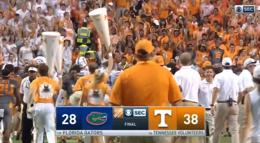 GO FREAKING VOLS! Amazing game! The streak is over. Time to celebrate. #vols https://t.co/RaXUlaIVAJ