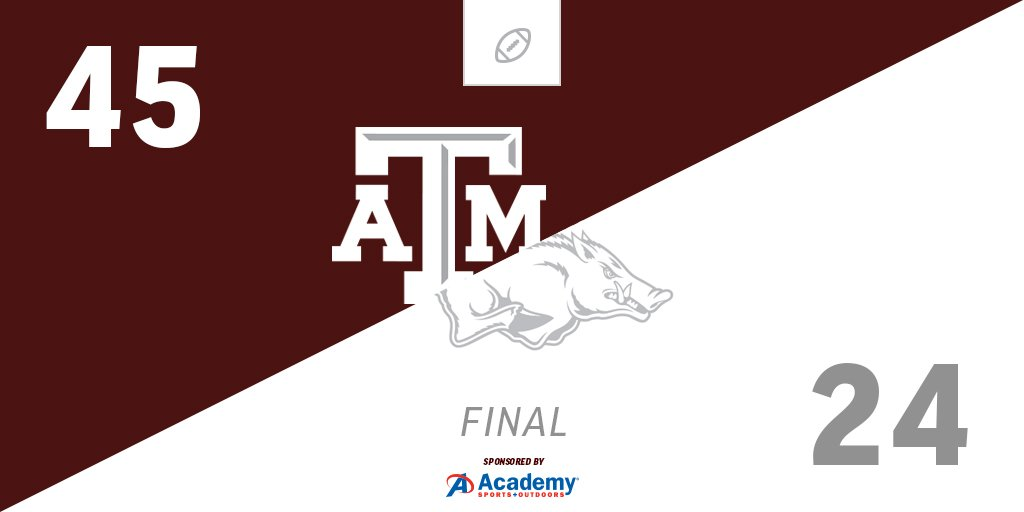4-0  #12thMan #ARKvsTAMU   pres. by @academy https://t.co/BDwQWB3eF4
