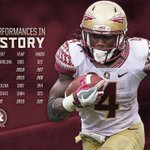 Dalvin Cook now owns 3 of the top 6 rushing performances in FSU history. #DC4 ⚡️ https://t.co/KokEyZ0vZX