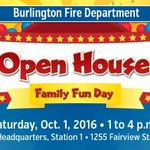 Burlington Fire Department hosts annual family Open House Oct. 1 from 1 to 4pm. https://t.co/kSaFmi374P @cityburlington @BurlingtonFire https://t.co/f7i019TlHV