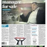 "Tomorrows Daily Telegraph front page: ""England manager for sale"" https://t.co/rvbCBBchpm"