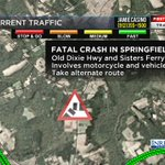 FATAL CRASH in Springfield... Old Dixie Hwy and Sisters Ferry Rd. #FirstAlertTraffic https://t.co/MA5Df3Yuvx