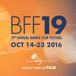 #BFF19 October 14-23, 2016 10 days | 23 films | 5 parties #BarrieFilmFestival #SavetheDate #BFF #Barrie https://t.co/UnH0EWfyb8