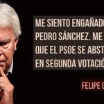 Felipe González anima a Pedro Sánchez @sanchezcastejon a dimitir con dignidad #PorUnPsoeGanador https://t.co/2obPWJrJKJ
