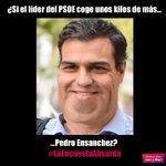 """#LaEncuestaAbsurda de @Martin_Frnando """"Si el líder del @PSOE coge unos kilos de más ¿Pedro Ensanchez?"""" https://t.co/4WuSbQyGNY"""