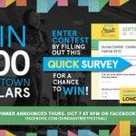 Enter to win $100 Downtown Dollars & help improve #DundasStFest / #LdnOnt! Enter Survey: https://t.co/WI43pENw2z @MayorMattBrown https://t.co/zvgcd83iEh