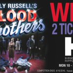 #WIN! 2 TICKETS to Blood Brothers showing at @brumhippodrome from 10-22 Oct. Simply RT before 4/10 to enter! https://t.co/7G4tF8i1rp
