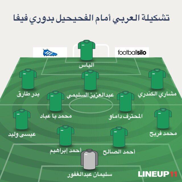 تشكيلة العربي لمباراة الفحيحيل بعد قليل في الجولة الأولى من دوري فيفا لكرة القدم https://t.co/7jXjQEWn01