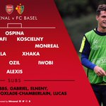 Here is your @Arsenal team to play @FC_Basel #AFCvBAS https://t.co/3xlhC7yf1l