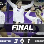 #LGD! Washington defeats Cal in four sets at Alaska Airlines Arena. #PointHuskies https://t.co/DxwsxPjUOw