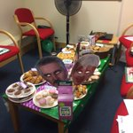Bake off day @moresussex for @macmillancancer @macmillancoffee yes thats me with the @sueperkins mask #Bakeoff https://t.co/hgX7PoREVS