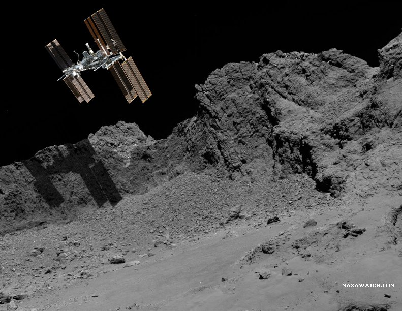 This is just to demonstrate the scale of  this #Rosetta image @ESA_Rosetta #CometLanding https://t.co/q0YlIjTlk3