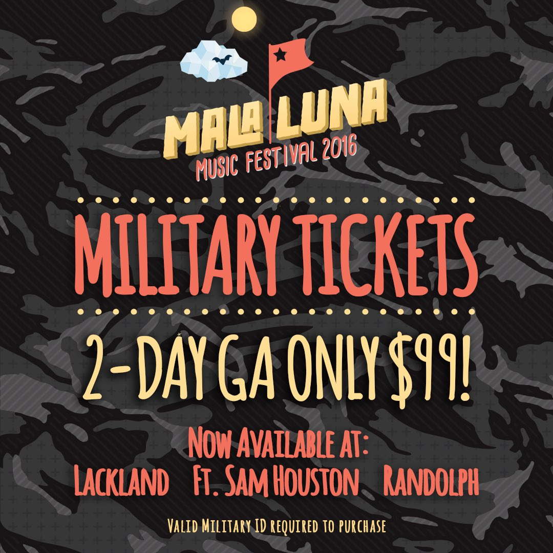 PSA! Military Tickets at a base near you. https://t.co/fgrONC7bT0