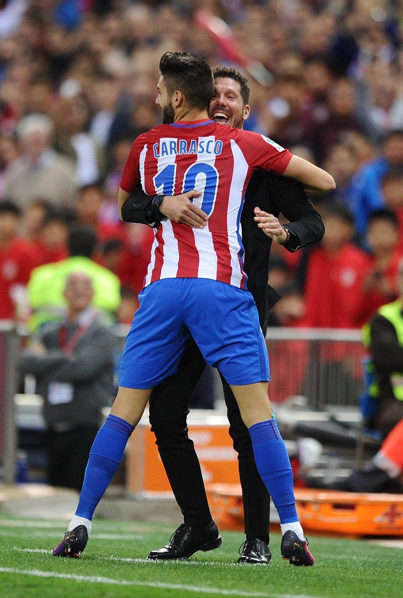 Hat trick hero yannick carrasco inspires atlético to 7 1 home