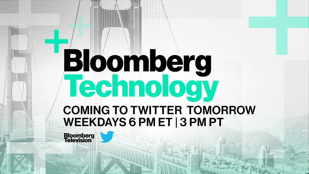 We start streaming live on @Twitter tomorrow -- Don't miss @BloombergTechTV! https://t.co/MFRpAsMZKk