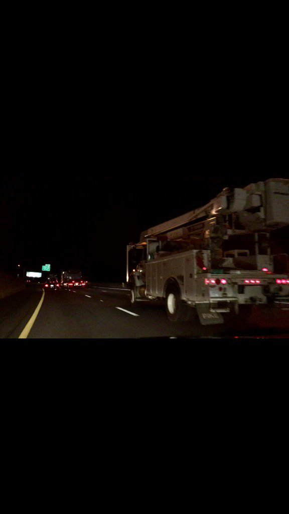 Saw a whole line of bucket trucks motoring up 77 tonight, and felt a surge of pride. #thankalineman https://t.co/GVR4Ydrkk5