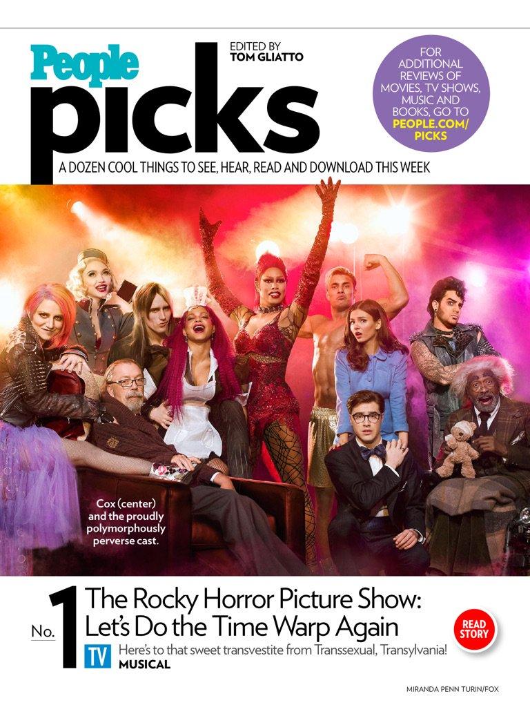 Rocky Horror Picture Show -People Picks, (People Mag-Oct 24 2016)- Adam Lambert mention https://t.co/f7UZ174rWR