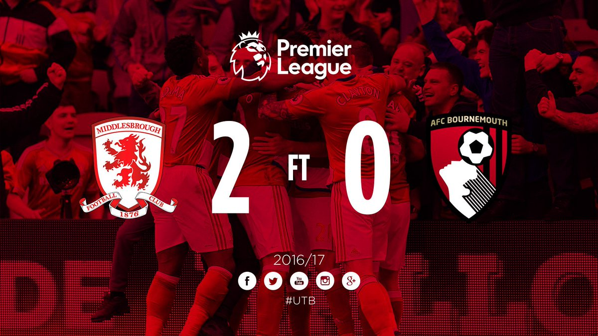 RT @Boro: FULL-TIME | Aitor @Karanka's 150th game sees #Boro's 250th Riverside win! GET IN!!! #UTB https://t.co/ZXhWeXT7vr