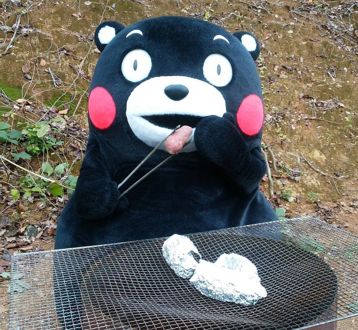 おはくま☆秋の味覚を食べて今日もがまだす(頑張る)モーン!