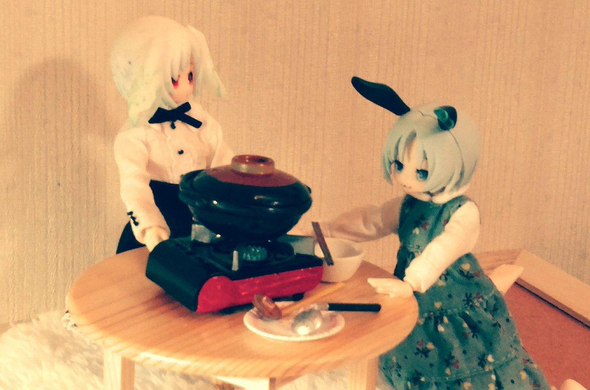 青<うーさーぎーおいしいかのやまー♪雪見<今日は兎鍋だ、肉はこれからだ青<うさ?