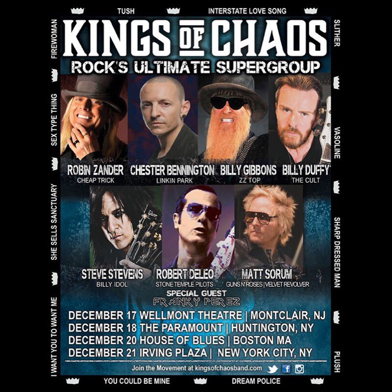 More @kingsofchaosusa tour dates announced. Tickets on sale Friday- https://t.co/rfLHRvIS1t https://t.co/21Zvk6A1GV