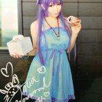 #これを見た人は青色の画像を貼れあくあにゃんの龍ヶ嬢七々々コス( *`ω´)