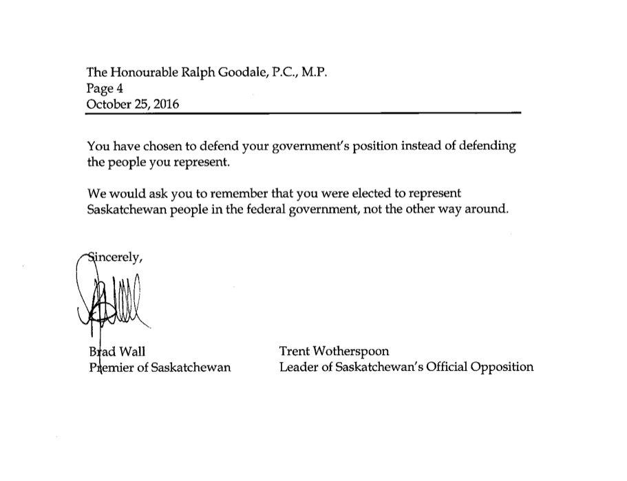 Signed letter