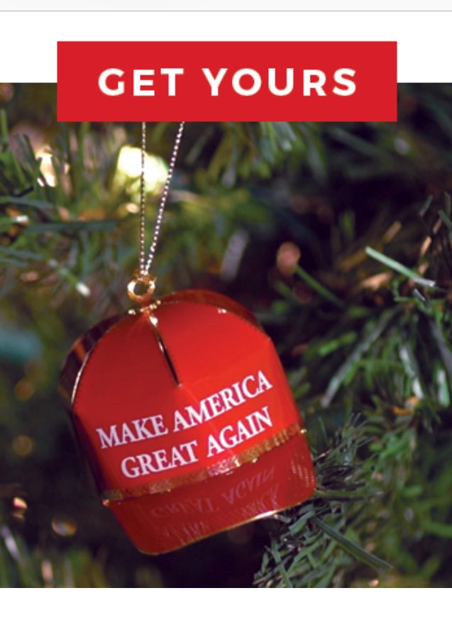 Ironically, this official Trump Christmas ornament is a great replacement for a lump of coal. https://t.co/T00GNUnFiC