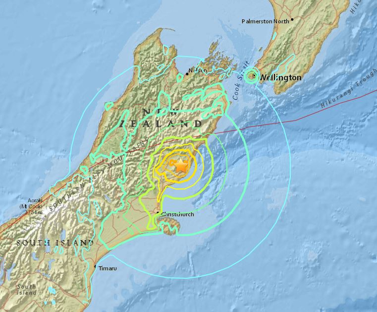 BREAKING: New Zealand struck by powerful earthquake, USGS says