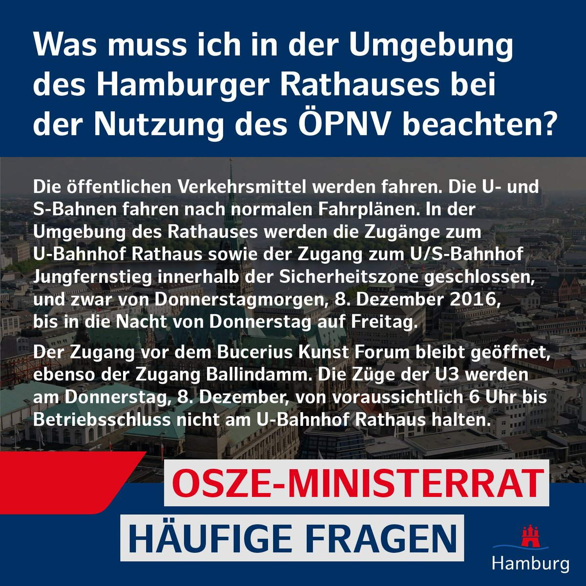 Häufige Fragen zum #OSZE-Ministerrat in #Hamburg - Teil 7/10. Alle #FAQ finden Sie unter: https://t.co/RcGkB6GYyE https://t.co/xthFXArwVo