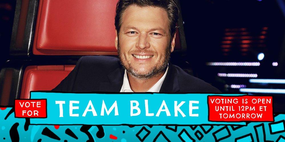 Vote for #TeamBlake now! https://t.co/zWsTntAdVj