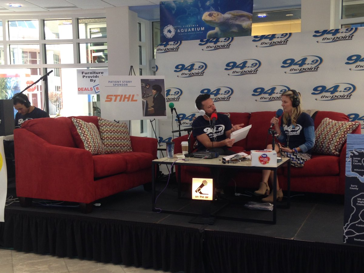 In case you haven't heard ... @949ThePoint is live right now in our lobby. Call (757)668-9000 to help kids now. https://t.co/0PAeOvrIO3