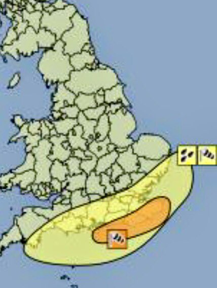 **WARNING** Storm Angus is on the way tonight. Wind gusts of 70-80mph are expected in the Amber Warning area. https://t.co/QU7BmLLTeY