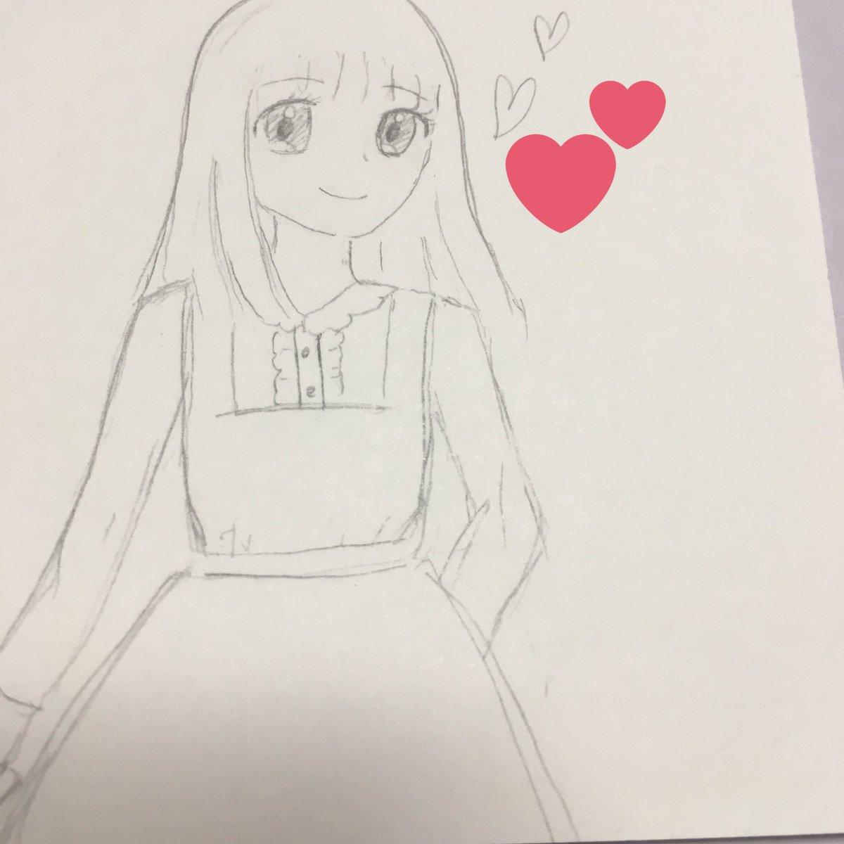 勉強してたのにいつのまにかお絵かきしてた、これで精一杯のアーヤ💭私の中では上手く書けたと思う😉#探偵チームKZ#立花彩