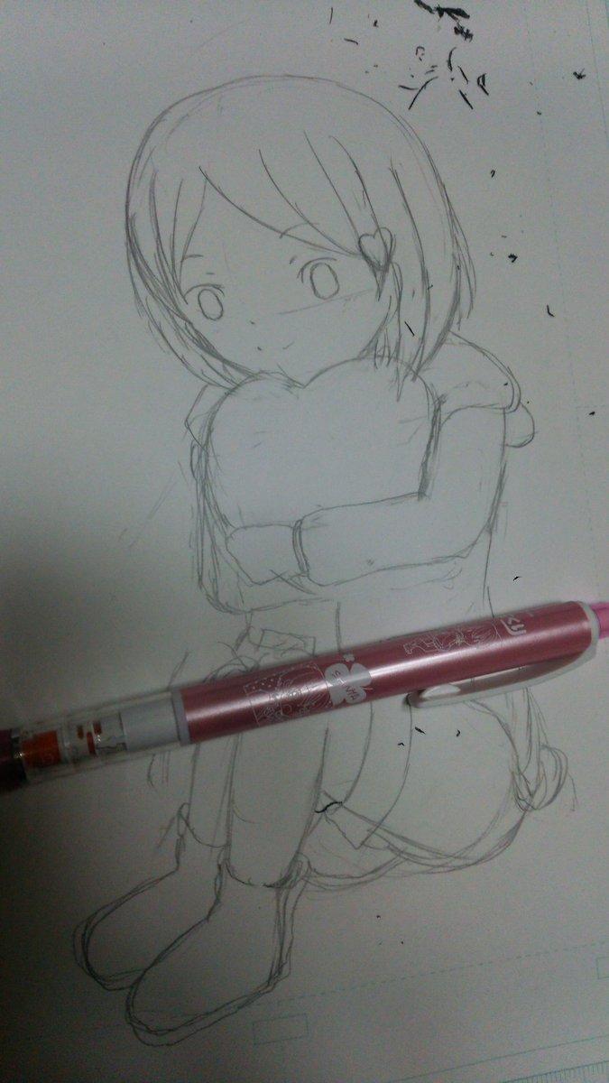 ももくり感謝祭で描いてるゆぅちゃん(下描き)です。ももくりのシャーペン使って描いてますヽ(*・ω・)ノ