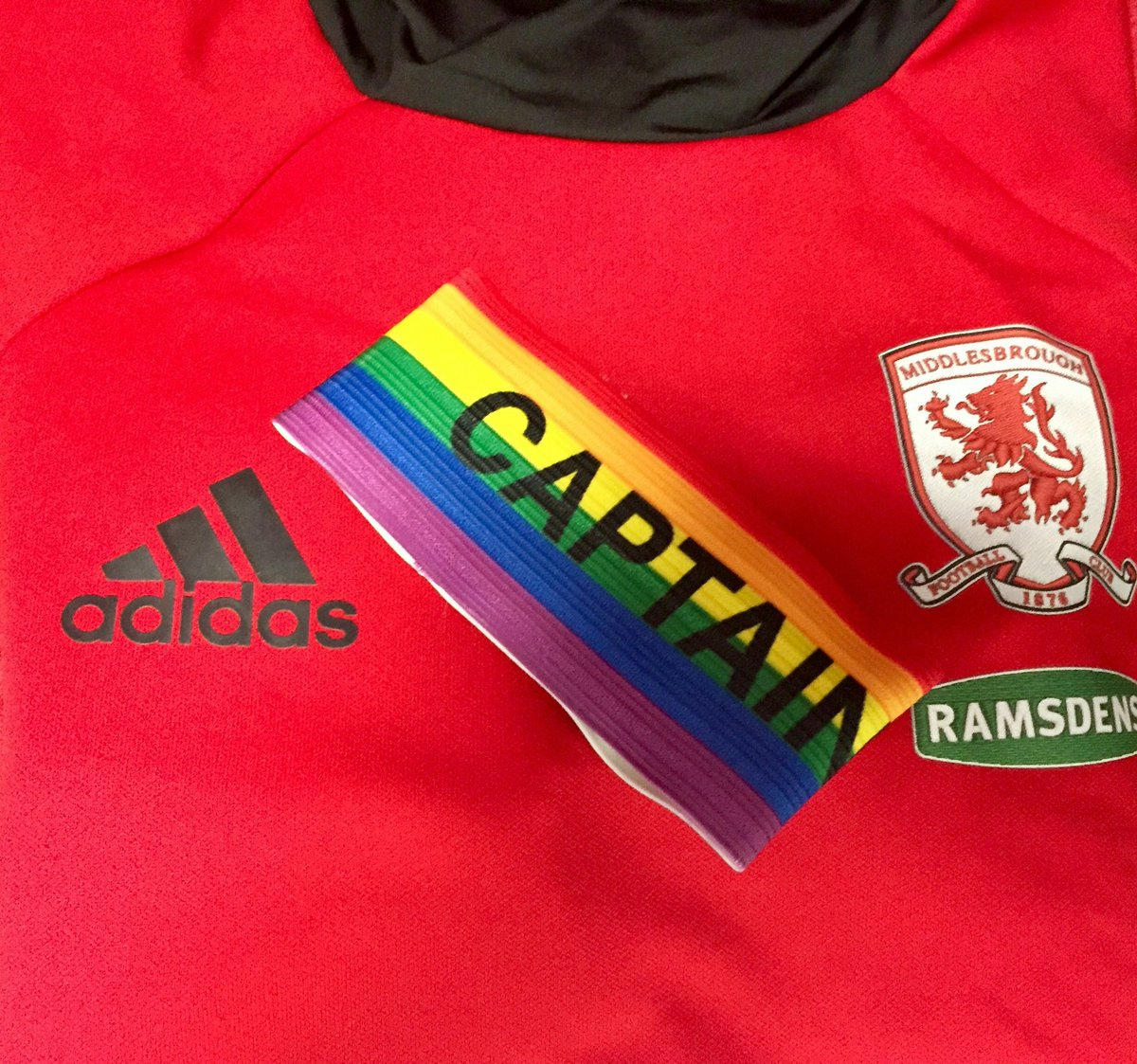 RT @Boro: Our captain will be wearing this armband today as #Boro support the @stonewalluk rainbow campaign. #UTB https://t.co/Nq6vleYQvF