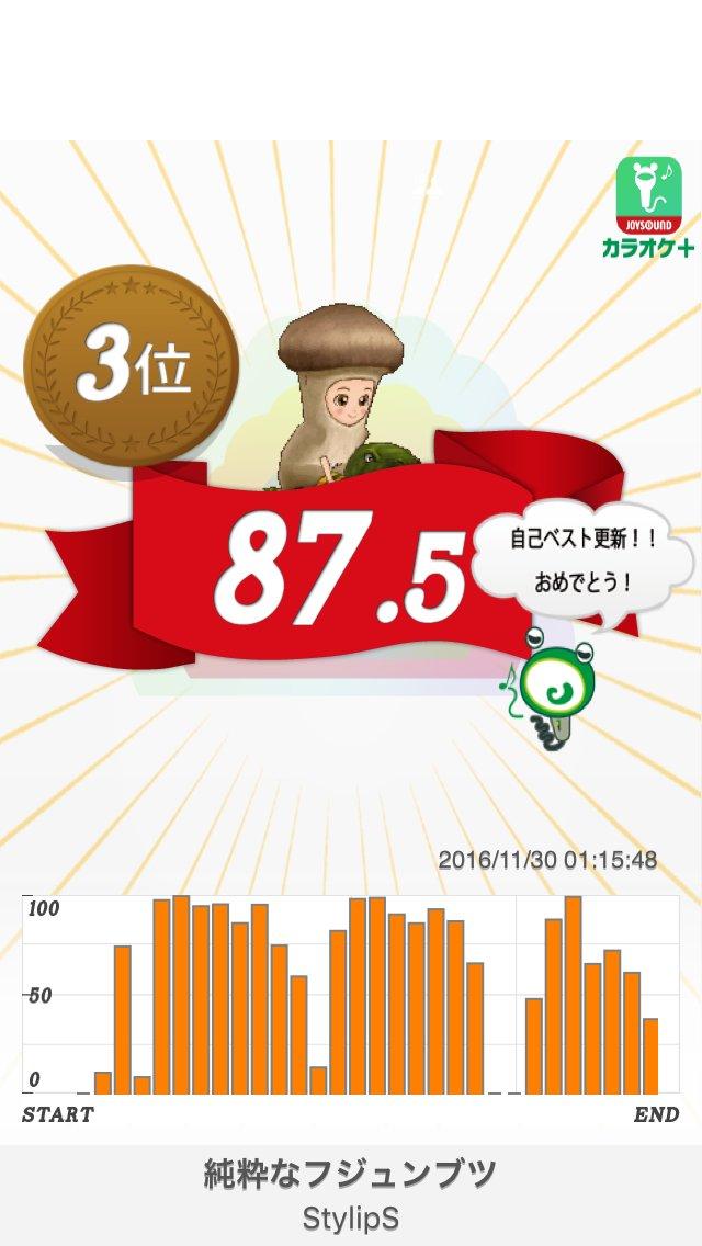 87.5点「純粋なフジュンブツ/StylipS」スマホで無料カラオケ採点!  #karaoke_plus「マンガ家さんと
