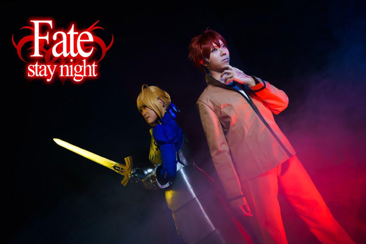 Fate/stay night士郎: 葵里さん  セイバー: みやもとさん  写真&ロゴ: スタジオ: