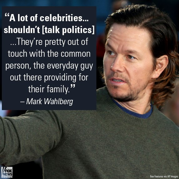 Wahlberg says it's high time celebrities recognize that no one between the coasts cares what they think about Trump. https://t.co/poSPEkLA9p