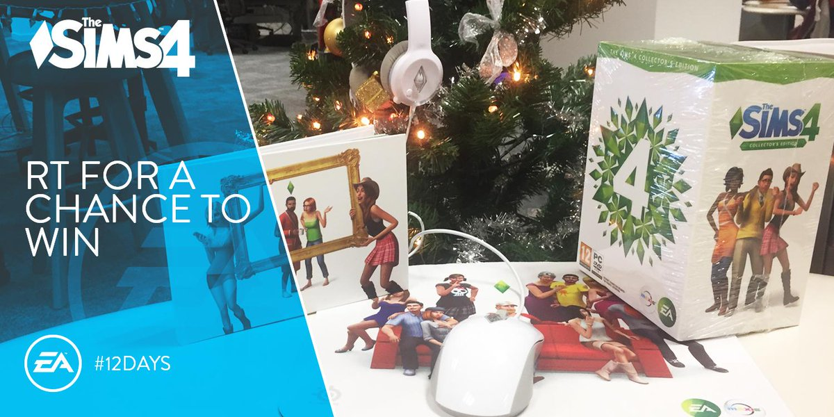 #12Days Day 7 - RT for a chance to win a Sims 4 Collectors Edition and Swag pack