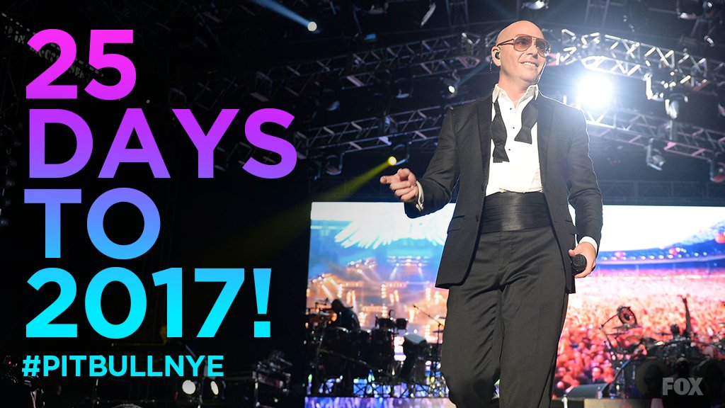 Who is ready for a New Year's Revolution? Don't miss @PitbullNYE 12/31 on @FOXTV #PitbullNYE #Dale https://t.co/ofRG1dT8er